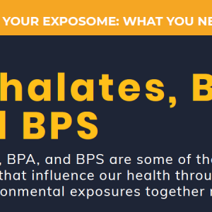 Everyday Chemicals in your Exposome: Phthalates and BPA/BPS